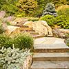 Ideias: Degraus naturalizados no jardim