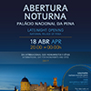 Palácio Nacional da Pena abre à noite com entrada livre