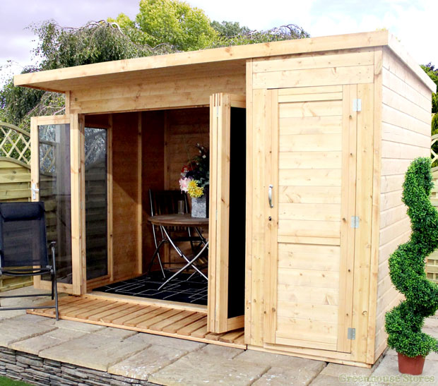 Cotswold-10x8-Modern-Garden-Room-with-Side-Shed-End