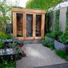 Planear abrigos e divisões no jardim