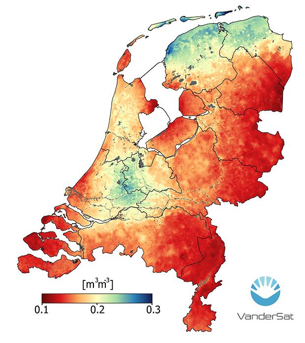 Humidade do Solo na Holanda