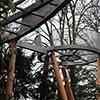 Passadiço do Arboreto de Westonbirt perto de Bristol com a assinatura da Stihl