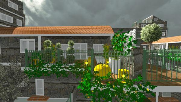 Jardins interiores uma casa verdejante portal do for Modelos de paredes exteriores
